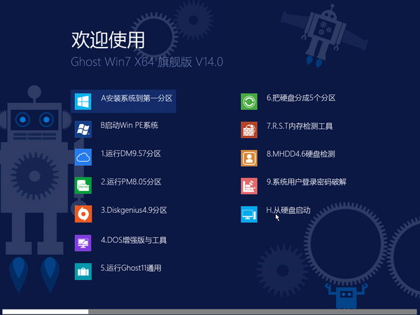 【Win7 64位精品】Ghost Win7 SP1 x64 旗舰版 V14.0(纯净版)