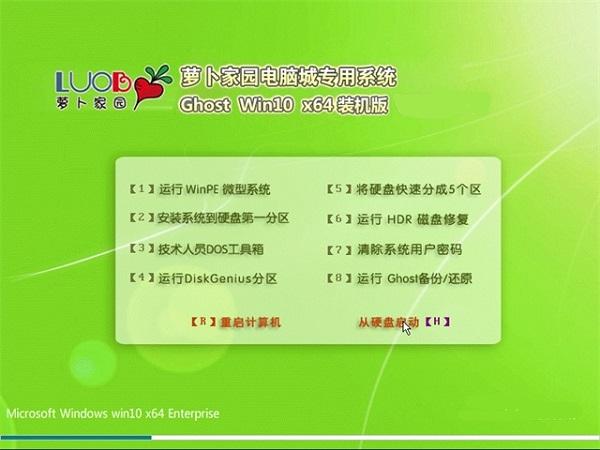 萝卜家园GHOST WIN10 X64 企业版 V2017.07(64位)
