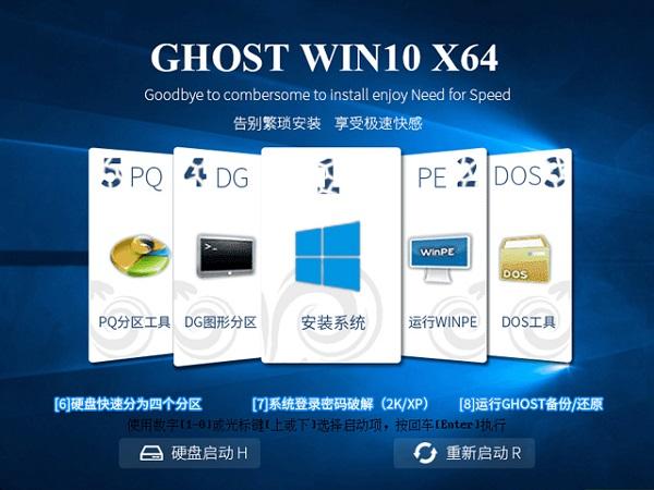 电脑公司GHOST WIN10 X64 家庭版 V2017.08(64位)