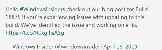 半路杀出程咬金:Windows10 19H1无法更新至20H1版本