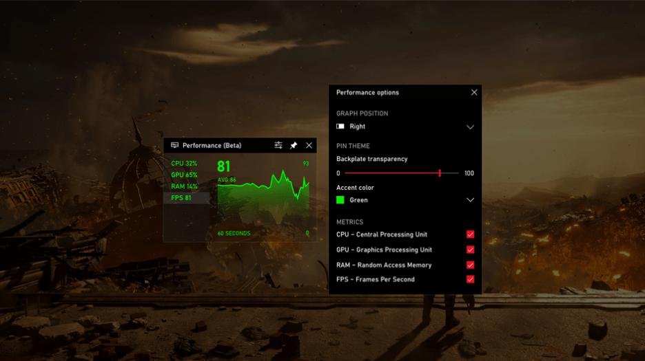 微软最近更新了Windows10新特性:Xbox全面支持显示实时帧数功能!-第3张图片