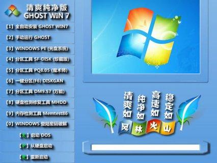 风林火山 GHOST WIN7 SP1 X86 正式纯净版 V15.12_最新win7纯净版32位