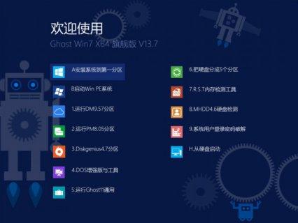 【Win7 64位精品】Ghost Win7 SP1 旗舰版 V13.7(纯净版)